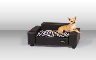 Luxus Designer Hundecouch Hundesofa Hundebett s606 + LED Blinky gratis