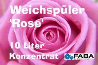 WEICHSPÜLER Konzentrat ROSE, 2 x 10 Liter im Kanister, 0,75 o / L