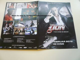 DON 2 SHAH RUKH KHAN Berlinale 2012 Presseheft