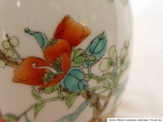 China Asien Vase Blumen Vogel Dekor bemalt Porzellan chinese Asia