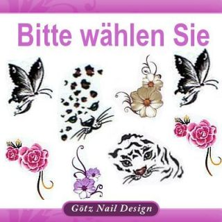One Stroke Sticker   Nail Art Tattoo   Bitte wählen Sie