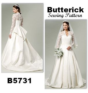 BUTTERICK MISSES BRIDAL BRIDESMAID WEDDING GOWN DRESS SEWING PATTERN 6