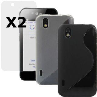 4in1 TPU Silikon Hülle Case Cover Tasche Schutzhülle Für LG Optimus