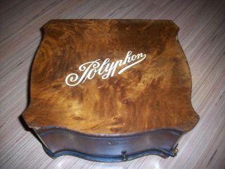 Altes Polyphon Antique Victorian Music Box Kalliope Lochplatte Rar