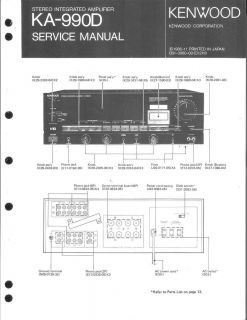 Kenwood Original Service Manual für KA 990D KA 990