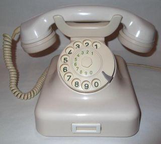 altes TELEFON Bakelit W 48 POST DFG 1963 ELFENBEIN weiss WÄHLSCHEIBE