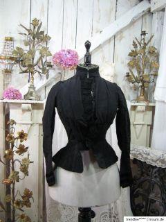 19. Jhdt. Antique FRENCH Victorian DRESS Museale BIEDERMEIER Jacke