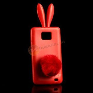 Rabbit BUNNY CASE Hase Cover Samsung i9100 Galaxy S2 Hülle Tasche in