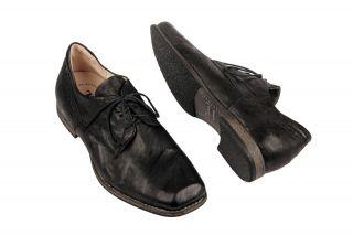 hink Guru Schuhe schwarz Herren karree Schnürer NEU
