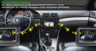 BMW E39 E53 X5 E38 AUTO DVD GPS Navi Autoradio 5ER 2 Zone IPOD RDS TMC