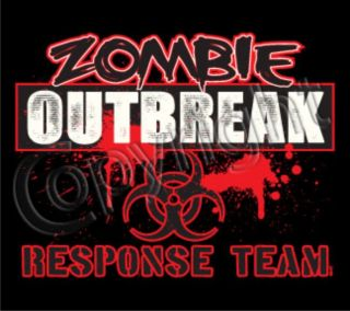 ZOMBIE OUTBREAK RESPONSE TEAM Halloween Party Blood Dead Horror Funny