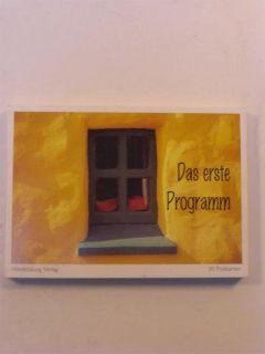 Postkartenbuch Das erste Programm 30 Stck. B UNBENUTZT