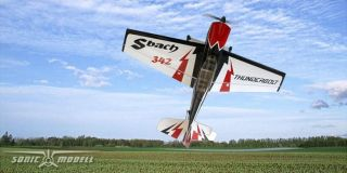 Sonic Modell Sbach 342 Balsa Electric RC Flugzeug KIT ohne Elektronik