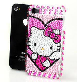 CARCASA IPHONE 4 HELLO KITTY SWAROVSKI BRILLANTES FUNDA