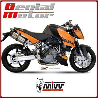 EXHAUST MIVV SUONO EDELSTAHL KTM 990 SUPER DUKE 2005 / 2012