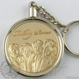 Rolling Stones Münze+Goldmünze Gold 999 als Anhänger