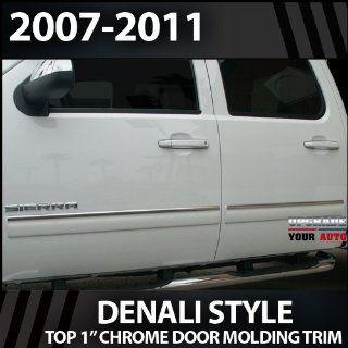 2007 2013 GMC Sierra HD Crew Cab 1 Chrome Door Molding Trim