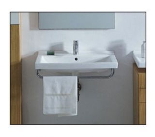Whitehaus LU034 China Large Rectangular Wall Mount Basin, White