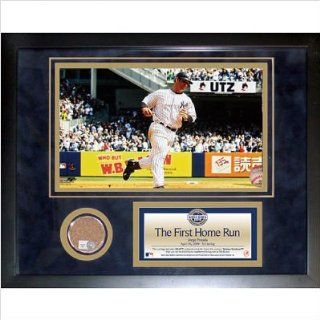 Jorge Posada 2009 Yankee Stadium 1st Home Run Mini Dirt