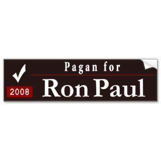 Pagan for Ron Paul_black Bumper Sicker
