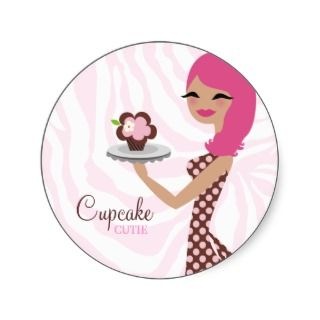 311 Candie the Cupcake Cutie Pink Sticker