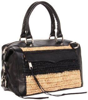 Minkoff Mab Mini Multi Top Handle Bag,Black/Natural,One Size: Shoes
