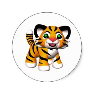 3d cartoon tiger cub stickers 2010 marianne gilliand all rights