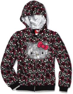 Hello Kitty Girls 7 16 All Over Hoodie Sweater, Anthracite