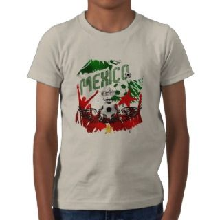 Mexico 2014 world cup soccer futbol flag futebol tshirts