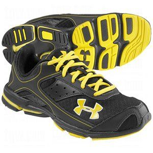 Under Armour Boys Armour Dash Running Shoe Black/Yellow Shoes