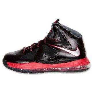 Nike LeBron X (GS)   Black/Chrome/University Red (7) Shoes
