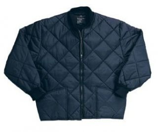 Navy Blue Diamond Quilted Flight Jacket 7160NB Size 7XL