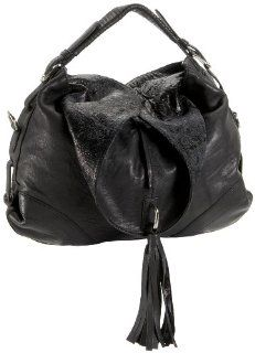 Hype Dylan Cross Body Flap Hobo,Black,one size Shoes