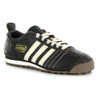 Adidas Chile 62 Black Leather Mens Trainers Size 10 US Shoes