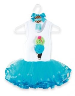Pie Wild Child Giraffe Tutu Dress, Blue/White, 12 18 Months Clothing