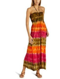 Raviya Womens Knit Maxi Dress,Orange/Pink,Large Clothing