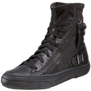 As Ralf High Top Tennis Shoe,Black/Black,40 EU (US Mens 7) Shoes