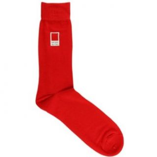 Red Mens Cotton Socks by Pantone: Clothing