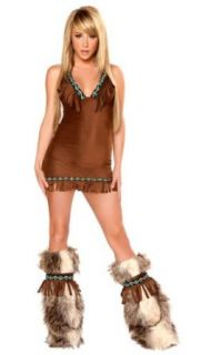 J Valentine Eskimo Costume Fringe Dress (Small) Clothing