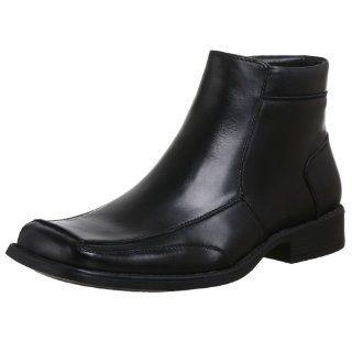 Steve Madden Mens Entrintz Zipper Boot,Black Leather,15 M US Shoes
