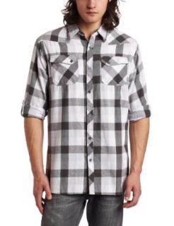 Burnside Young Mens Nabob Flannel Shirt, White, XX Large
