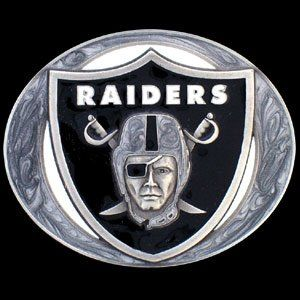 Oakland Raiders Pewter NFL Belt Buckle