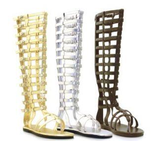 Ellie Shoes   120 Max, Mens Knee High Multistrap Flat