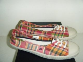 Tommy Hilfiger Lilly Womens Shoes Berry Plaid Sz 10.0 M Us Shoes