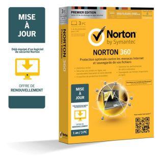 2013   MaJ   1an 3 Postes   Achat / Vente ANTIVIRUS Norton 360 2013