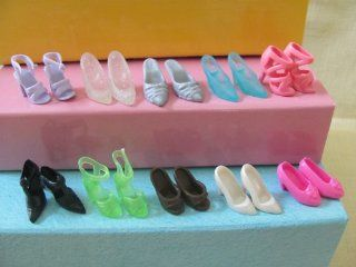 Barbie Doll Shoes 10 Pairs Fit 11.5 Barbie Dolls (No Doll