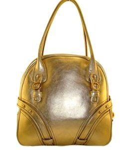 Juicy Couture Leather Lovely Bowler Handbag Bag Purse Tote
