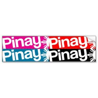 Pinay 4pack DIY Cutout Stickers Bumper Sticker