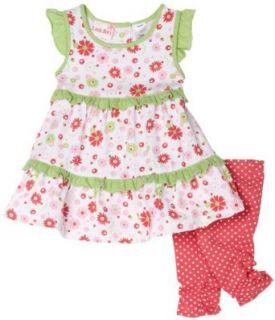 LITTLE BITTY Legging Set, Green/White, 24 Months: Clothing