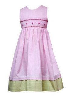 Rare Editions Little Girls 4 6X PINK WHITE GREEN GINGHAM